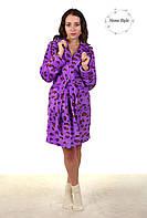 Нарядный молодежный халат с леопардовым принтом. Размер 38-42 Код:644864853