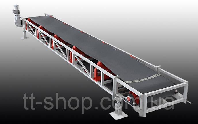 Ленточный желобчатый конвейер длинной 4 м, ширина ленты 500 мм, фото 2