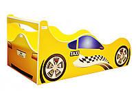 Кровать-машина ТАКСИ желтая