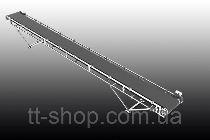 Ленточный желобчатый конвейер длинной 7 м, ширина ленты 500 мм