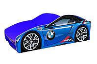 Кровать-машина БМВ синяя, фото 1