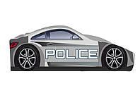 Кровать-машина Полиция серая