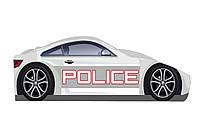 Кровать-машина Полиция белая