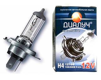 Лампочка Диалуч 24V 75/70W P45T H4