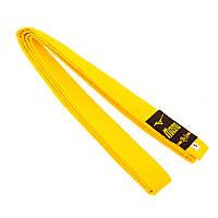 Желтый пояс для кимоно Mizano