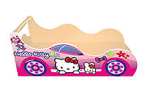 Кровать-машинка Китти розовая 1590*836 мм - 2916,00 грн., фото 1