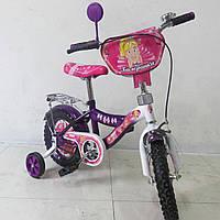Велосипед TILLY Балеринка 12 purple + white