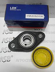 Термопластовый корпус с подшипником и системой защиты от воды LDK Water-proof WP-SBFL205-16 BLACK+CC+BS