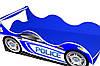 Кровать-машинка ДРАЙВ Полиция синяя