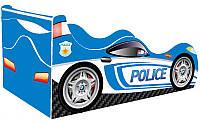 Кровать-машинка ДРАЙВ Полиция голубая