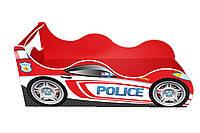 Кровать-машинка ДРАЙВ Полиция красная