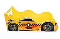 Кровать-машинка ДРАЙВ Такси желтая