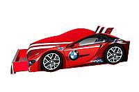 Кровать-машинка BMW красная с матрасом, фото 1