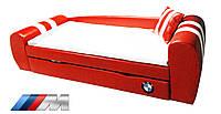 Диван-кровать БМВ красный с выездным ящиком для постельного белья - 5 259 грн.