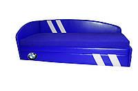 Кровать-диван Grand Light синий БМВ с белыми полосами, фото 1
