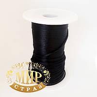 Шнур сатиновый Черный 3мм, 1м