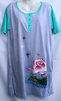 Жіноча нічна сорочка батал (р. 5XL-7XL) купити оптом