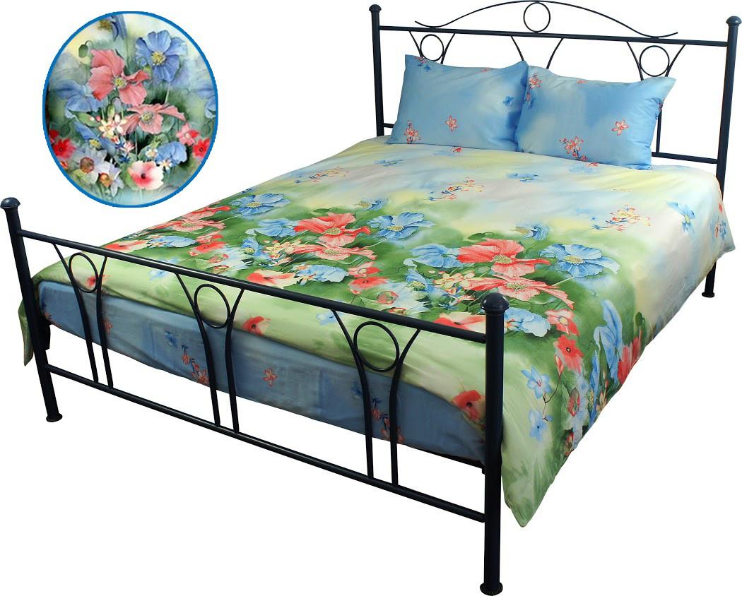 Постельное белье сатин - двуспальный комплект (Summer flowers)