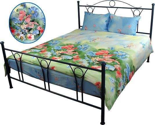 Постельное белье сатин - двуспальный комплект (Summer flowers), фото 2