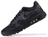 "Кроссовки Nike Air Max 1 Ultra Flyknit ""Black/Anthracite"""