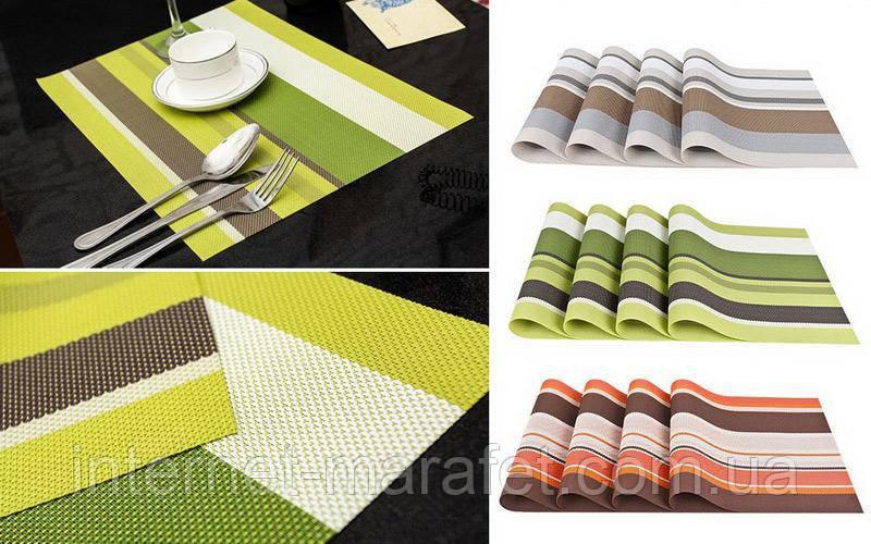 Комплект сервировочных ковриков (4 штуки)