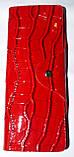 Женские вертикальные кожаные визитницы в лаке 7,5*19,5 см, фото 2