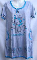 Жіноча нічна сорочка (р. XL-5XL) купити оптом