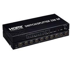 HDMI Switch/Splitter 2х8, HDMI Коммутатор / Разветвитель 2х8, с пультом