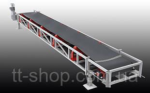 Ленточный желобчатый конвейер длинной 2 м, ширина ленты 600 мм