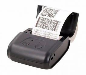 Термопринтер мобильный, POS, Bluetooth чековый принтер XP-P200 QR 58мм