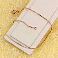 001-0656 - Браслет Венецианское плетение розовая позолота, 20 см