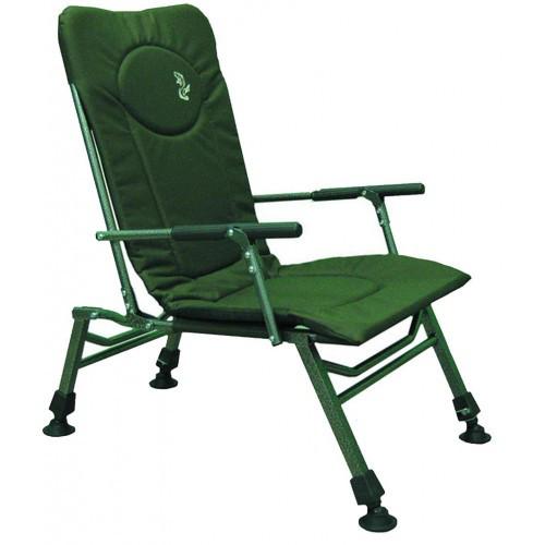 Карповое кресло Elektrostatyk с подлокотниками и нагрузкой до 110 кг (
