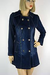 джинсовий жіночий короткий  плащ