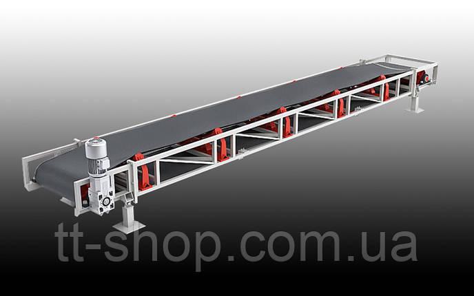 Ленточный желобчатый конвейер длинной 2 м, ширина ленты 800 мм, фото 2