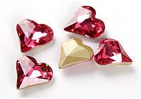 Стразы для инкрустации Сердце, цвет Rose,13mm*1шт