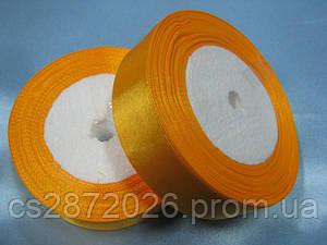 Лента атлас 25 мм, оранжевый