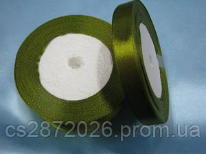 Лента атлас 12 мм, болотно-зеленый