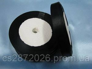 Лента атлас 12 мм, черный