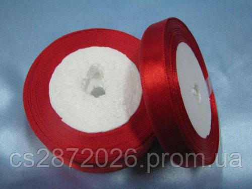 Лента атлас 12 мм, красный