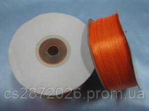 Лента атлас 3 мм, ярко-оранжевый