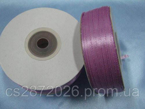Стрічка атлас 3 мм, бузково-рожевий