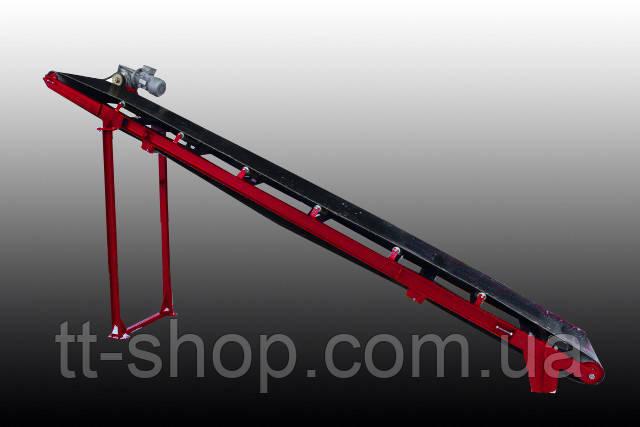 Ленточный желобчатый конвейер длинной 5 м, ширина ленты 800 мм