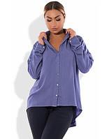 Рубашка в стиле фрак размеры от XL 3069