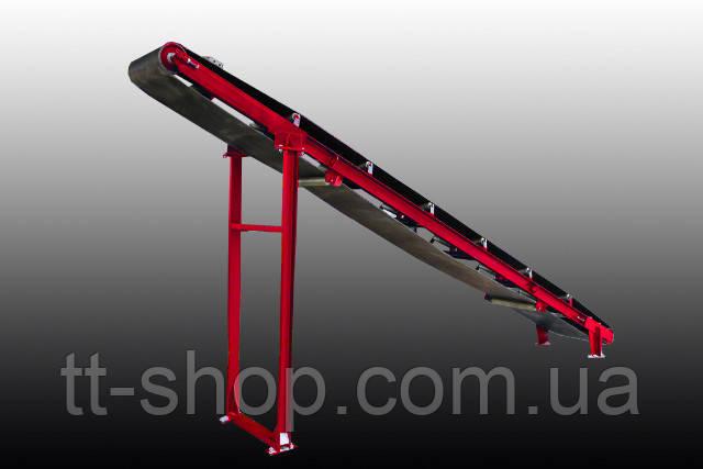 Ленточный желобчатый конвейер длинной 6 м, ширина ленты 800 мм