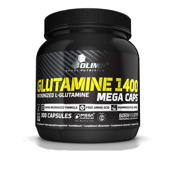 L-Glutamine 1400 mega caps/ Л-Глютамин 1400 мега капс 300 капсул
