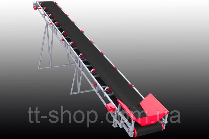 Ленточный желобчатый конвейер длинной 8 м, ширина ленты 800 мм