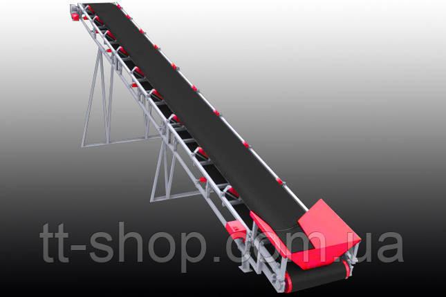 Ленточный желобчатый конвейер длинной 8 м, ширина ленты 800 мм, фото 2