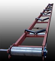 Ленточный желобчатый конвейер длинной 9 м, ширина ленты 800 мм, фото 3