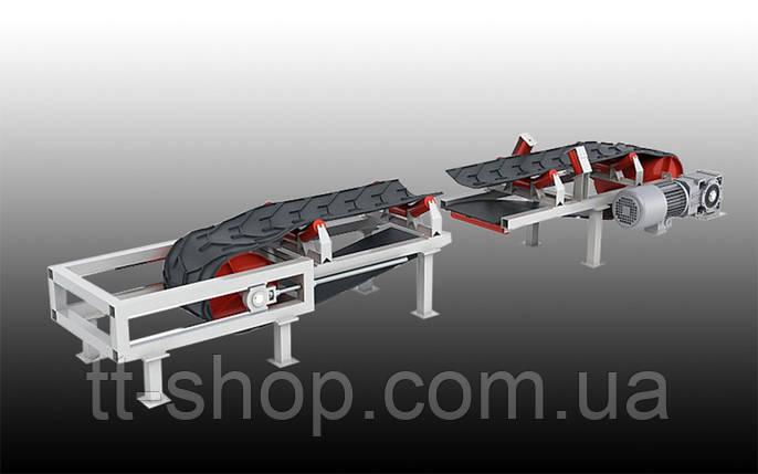 Ленточный желобчатый конвейер длинной 10 м, ширина ленты 800 мм, фото 2
