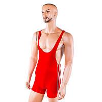 Красный трико борцовское размеры 120-190